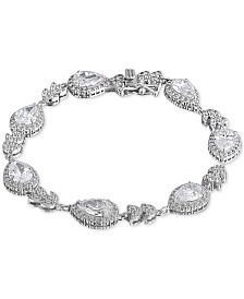 Giani Bernini Cubic Zirconia Teardrop Link Bracelet in Sterling Silver, Created for Macy's