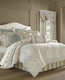 J Queen New York Romano Ice Blue 4-Pc. Queen Comforter Set