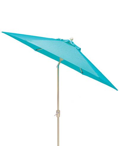 Beach House Outdoor 11' Auto-Tilt Umbrella with Sunbrella® Fabric, Created For Macy's