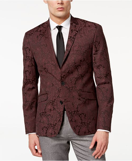 fceb95d696 Kenneth Cole Reaction Men s Slim-Fit Stretch Paisley Dinner Jacket ...