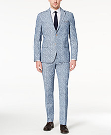 Tallia Orange Men's Modern-Fit Blue Paisley Suit Separates