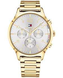 Tommy Hilfiger Women's  Gold-Tone Metal Bracelet Watch 38mm, Created for Macy's