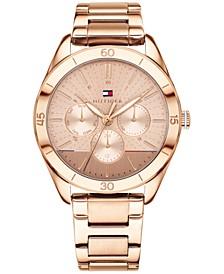 Women's Rose Gold-Tone Metal Bracelet Watch 40mm, Created for Macy's