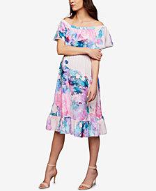 RIPE Maternity Off-The-Shoulder Dress