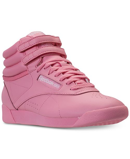3870e562060ee ... Reebok Women s Freestyle High Top Casual Sneakers from Finish ...