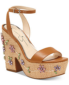 Jessica Simpson Cressia Wicker Wedge Sandals