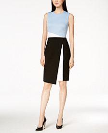 Calvin Klein Colorblocked Scuba Sheath Dress, Regular & Petite