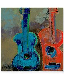 """'Red and Blue' by Boyer 18"""" x 18"""" Canvas Print"""