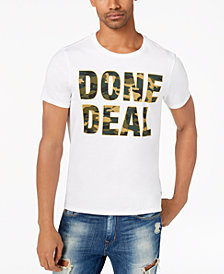 GUESS Men's Done Deal Camo Graphic-Print T-Shirt