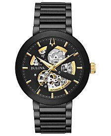 Bulova Men's Futuro Black Stainless Steel Bracelet Watch 42mm