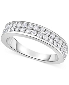 Diamond Double Row Band (3/4 ct. t.w.) in 14k White Gold