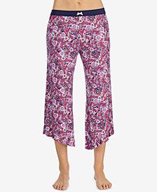 Layla Floral-Print Ruffle-Cuff Pajama Pants