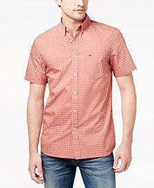 Lacoste Men's Gingham Poplin Shirt