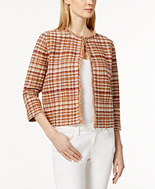 Weekend Max Mara Tilly Fringe-Trim Jacket