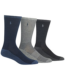 Polo Ralph Lauren Men's Heathered Socks, 3-Pack