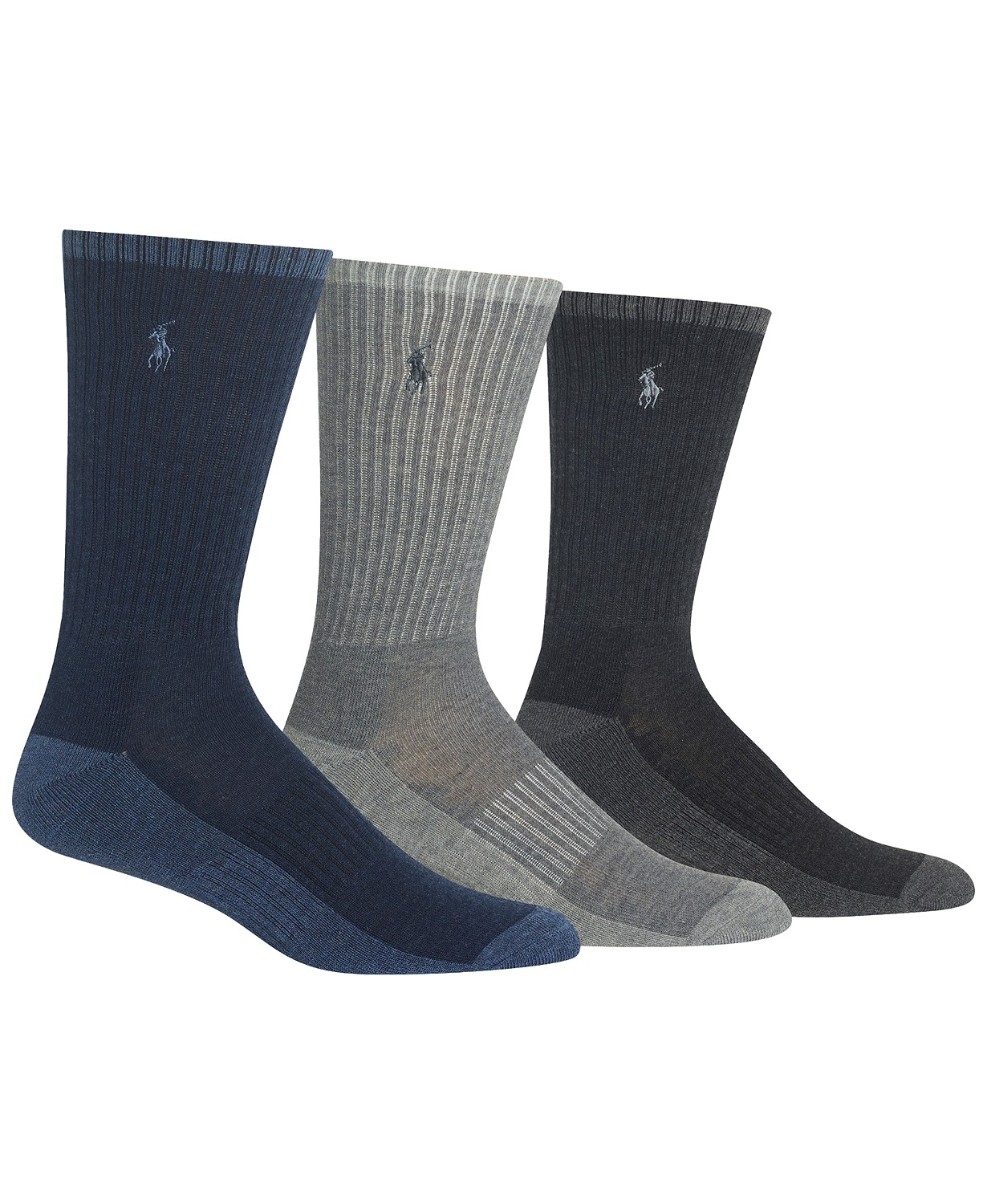 3-Pack Polo Ralph Lauren Heather Crew Socks