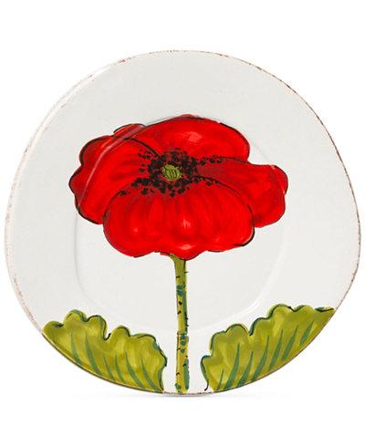 Vietri Lastra Poppy Collection Salad Plate
