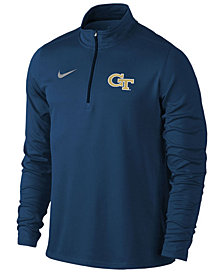 Nike Men's Georgia-Tech Solid Dri-FIT Element Quarter-Zip Pullover