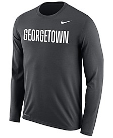 Men's Georgetown Hoyas Dri-FIT Legend Wordmark Long Sleeve T-Shirt