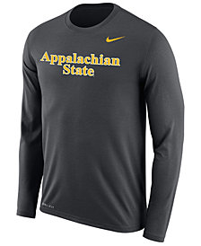 Nike Men's Appalachian State Mountaineers Dri-FIT Legend Wordmark Long Sleeve T-Shirt