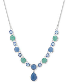 "Nine West Colored Stone 16"" Y-Necklace"