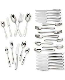 Cantera 65-Pc. 18/10 Stainless Steel Flatware Set, Service for 12