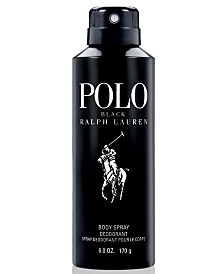 Ralph Lauren Men's Polo Black Body Spray, 6 oz