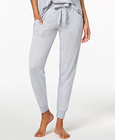 Ande Super Soft Ribbed-Trim Jogger Pajama Pants
