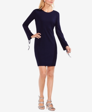 Vince Camuto  RIBBED GROMMET-SLEEVE SWEATER DRESS