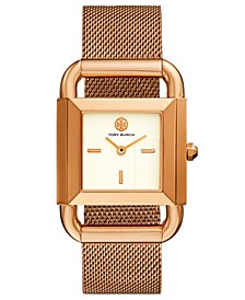 Women's Phipps Rose Gold-Tone Stainless Steel Mesh Bracelet Watch 41x29mm