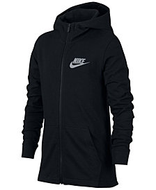 Nike Big Boys Full-Zip Graphic-Print Cotton Hoodie