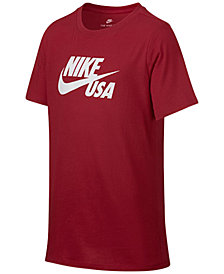 Nike Sportswear Graphic-Print Cotton T-Shirt, Big Boys