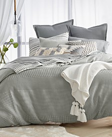 CLOSEOUT! Lucky Brand Waffle Stripe Duvet Cover Sets