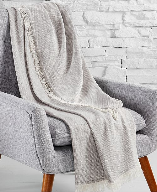 Hotel Collection CLOSEOUT! 525-Thread Count Cotton Throw Blanket, Created for Macy's