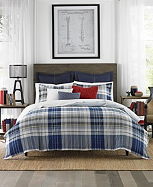 Poquonock Plaid 3-Pc. Full/Queen Comforter Set