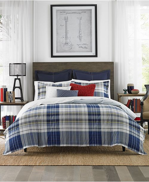 Tommy Hilfiger Poquonock Plaid Comforter Sets - Bedding Collections ... 6591a87bb