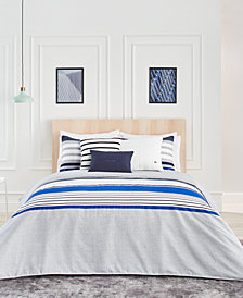 CLOSEOUT! Lacoste Home Auckland Blue Full/Queen Comforter Set