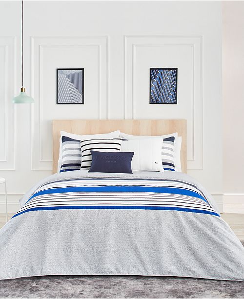 Lacoste Home Lacoste Auckland Blue Bedding Collection, 100% Cotton