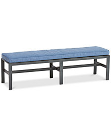 Harlough II Armless Outdoor Bench with Sunbrella® Cushion, Created for Macy's