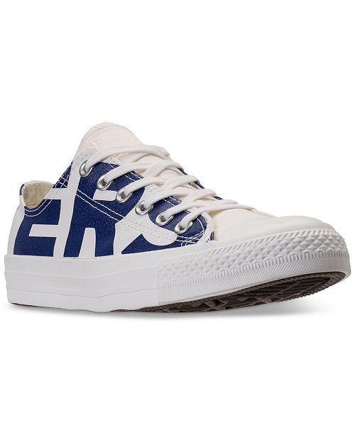 32cea8d6de0a ... Converse Men s Chuck Taylor All Star Wordmark Low Top Casual Sneakers  from Finish ...