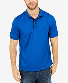 Nautica Men's Piqué Performance Embroidered-Logo Polo