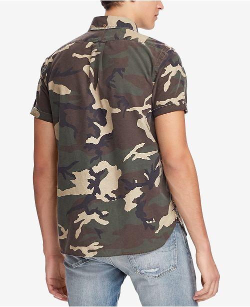 c5b932898 Polo Ralph Lauren Men s Classic Fit Camouflage Shirt   Reviews ...