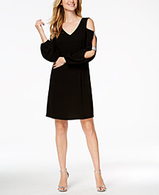 MSK Embellished Cutout-Sleeve Dress