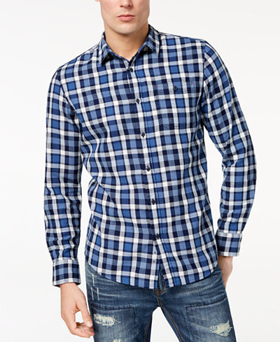 American Rag Men's Plaid Shirt, Created for Macy's