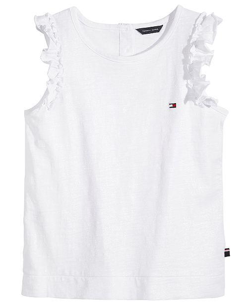 Tommy Hilfiger Cotton Glitter T-Shirt, Big Girls