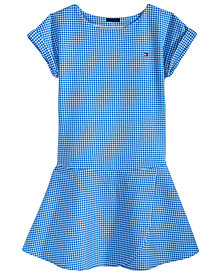Tommy Hilfiger Gingham Ponté Knit Dress, Big Girls