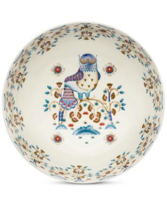 Taika White Serving Bowl