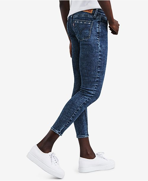 5619ed7af1bb Levi's 535™ Studded Super-Skinny Cropped Jeans & Reviews - Jeans ...
