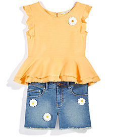 Nowadays x Bailee Madison Daisy Denim Shorts & Peplum Top, Separates, Big Girls & Juniors