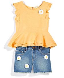 Nowadays x Bailee Madison Daisy Denim Shorts & Peplum Top, Separates, Big Girls & Juniors